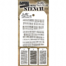 MTHS034 Stampers Anonymous Tim Holtz Layering Stencil - Mini Stencil Set #34